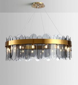 DHL 2020 Nordic Style Apartment Schlafzimmer Kristallleuchter Kreative Designer Art Gallery Restaurant Bar Licht Leuchte Leuchte