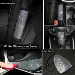 Chinestone Автомобильные аксессуары для женщин Bling Interior Set Handbrake Cover Gear Shift Cover Рулевое колесо для Car1