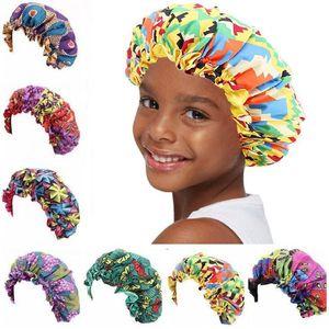 Kids Bonnets Kids Sleeping Hat Hot Toddler Satin Cap Adjustable Sleeping Cap Night Hats African Beanie Cap For Natural Hair Toddler baby