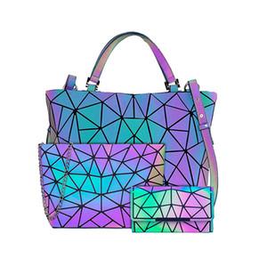 Luminous Bao Bag Geometric Bags for Women 2020 Quilted Shoulder Bags Set Folding Totes Sac a Main Femme Handbags Bolsa Feminina C1223
