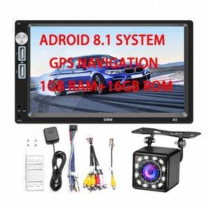 Car Radio Player 2 Din Android 8.1 GPS Navigator 1G + 16G Rom Stereo Autoradio FM MirrorLink WIFI Bluetooth Reversing Camera IJuw#