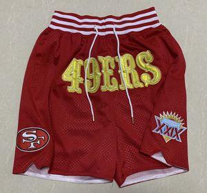São Francisco49ersHomens futebol calções APENAS DON por Mitchell Ness MEN verão retro bolso as calças S-3XL