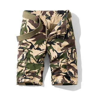 Summer Style Camouflage Camo Cargo Shorts Men Casual Cotton Multi-Pocket Loose Shorts Army Tactical Plus Size
