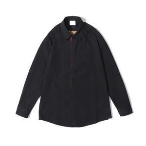 2021 Designer der Frauen Männer Grid-Hemd-Kleid Art und Weise beiläufiges Hemd Marken Herren Slim Fit Shirts Luxus-Mann-Geschäft soziale Male Kleid Shirts GS51