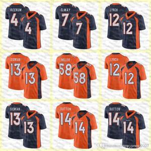 58 von Miller DenverKundenspezifische Männer Frauen Kinder BroncosFußball-Trikots 10 Jerry Jeudy 30 Phillip Lindsay 3 Drew Lock 55 Chubb 14 Sutton