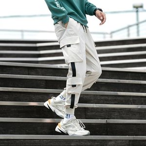 Summer Thin Overalls Men's Trousers Loose Feet Loose Casual Wild Trend Large Size Hip-hop Nine-point Pants Student Sports Pants