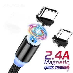 Micro USB magnetic Cable, type C magnetic connector, 3 in 1 charging, Cable for Sony, Huawei, Samsung, XiaoMi, magnetic charging