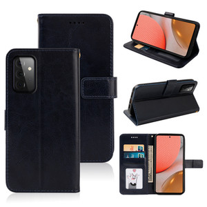 Retro Crazy Horse with Card Slot For ZTE Axon 10 Pro 11 SE Blade A3 A5 A7 A7s V10 Vita V2020 Smart For Samsung S21 plus ultra