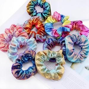 Bronzing Headband Zipper Designer Designer Capelli Scrollies Retro Gradiente Colore Pocket Hairbands Ponytail Holder Donne Accessori per capelli