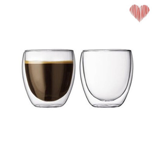 100% New Brand Fashion 4pcs 80ml Double Wall Insulated Espresso Cups Drinking Tea Latte Coffee Mugs Whiskey Glass Cups Drinkware 18 N2