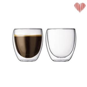 100% neue marke fashion 4 stücke 80 ml doppelwand isolierte espresso cups trinken tee latte kaffee tassen whisky glass cups trinkware 18 n2
