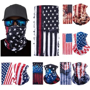 American Flag Print Magic Scarf Multifunctional Face Mask Outdoor Sports Bandana Anti-mosquito Dustproof Cap 8 style w-00355