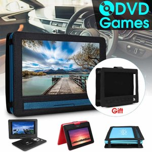 """Portable Car DVD Player 9.8"""" DVD Player Game Video Control Rechargeable 270 Degree Rotation With Game FM Radio TV AV Car Charger"""