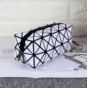 Women Cosmetic Bag Geometric Folding Make Up Bag Case Beauty Bags Shouder Handbags Storage Bags Tools DDB4102