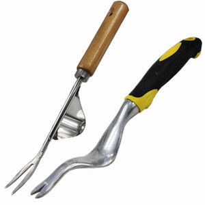 Steel Hand Weeding Fork Transplanting Digging Tools Manual removing taproot For Homegrown Garden Planting and Weeding Tools