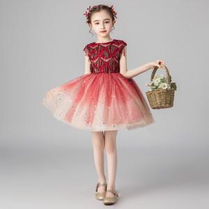 Новый год платье для девочек Первого причастия платья девушки Свадебного платья партии Детской Рождественские кружева Bridesmaids мантия