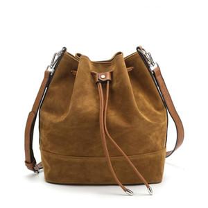 크로스 테두리 무역 새로운 단일 어깨 메신저 가방 아마존 대용량 플란넬 Drawstring 여성 양동이 가방