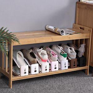 Пластик Простой обуви стойку Прочный регулируемый обуви Организатор Обувь Поддержка Space Saving Cabinet Шкаф для хранения обуви Стенд Shoerack DWA1723