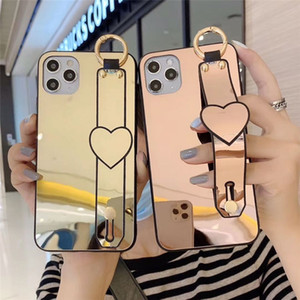 Make Up Mirror suitcase coque iphone 12 pro max phone cases iphone 11 Case cover iphone 8 case cell phone cases Strap Stand Back Cover