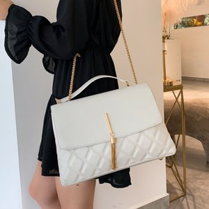 Retro Lingge Chain Big Tassel Handbags Women Shoulder Bags Pu Leather Crossbody Bag Large Tote Lady Purse New 2020 high quality new