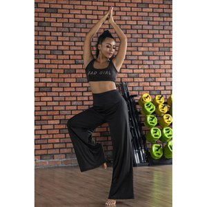 Farbe New fester dünner Sitz breite Beinhosen fest Yoga Pants Yoga Fitness Hosen