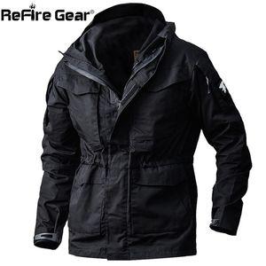 ReFire Gear Army Field Tactical Jacket Men Waterproof Rip-stop Camouflage Military Jackets Autumn Multi-Pockets Windbreaker Coat Y201026