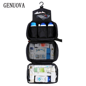 New Hanging Toiletry Bag Men Travel Wash Organizer Women Cosmetics Kit Make Up Pouch High Quality Waterproof Hook Shower Bags 201006