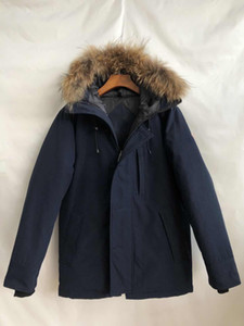 Real Raccoon fur 2020 Brand new New Mens thick Down Canada USA style CHATEAU Parka Coat Winter Warm Jacket -30 degree