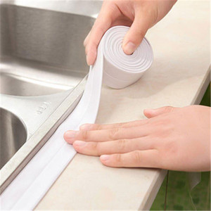 Bathroom Shower Sink Sealing Tape White PVC Self-adhesive Waterproof Wall Sticker Kitchen Mildew-proof Tape Wall Corner Seal