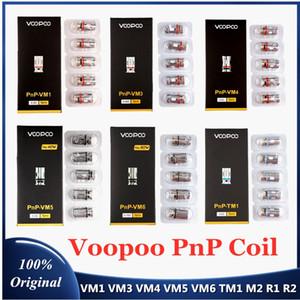 X R 빈치 드래그 S 거스 RX 항공 기상 100 % 확실한 inStock에 대한 원래의 PnP Voopoo 코일 헤드 VM1 VM3 VM4 VM5 VM6 TM1 M2 메쉬 R1 R2 Vape 코어