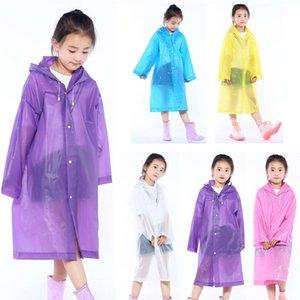 Kid Hooded Poncho Child Fashion Long Rain Coat Waterproof Windproof Raincoat Thicken Outdoor Portable Rainwear For Boys Girls VT1666