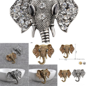 grfEM Sleeping Tie Elephant Penguin Women HardBrooches Animal brooch Pins creativity diamond Tiny Animals Kitty elephant Tack