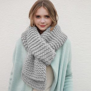 Hot Sale-fashion scarf with fuzz edge for women cashmere ladies winter woman thick wool handmade color shawls scarves warm