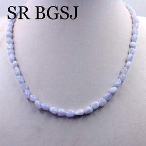 Free Ship 6-8mm Nugget Gems Beads White Lobster Clasp Adjustable Women Natural Stone Necklace