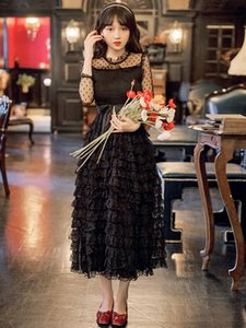 Best Quality Series Black Mesh Tiered Layered Sweet Ball Princess Wedding Party Unique Women Dress 1206