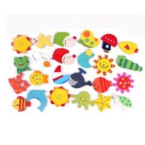 960 قطعة / الوحدة الطفل الخشب الكرتون الثلاجة المغناطيس هدية الحيوان نمط التعليمية قبل شول ألعاب خشبية ملصقات المغناطيسي فيديكس dhl سفينة