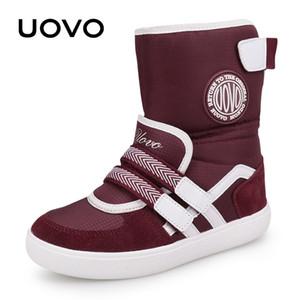 UOVO Yeni Favori Çocuk Boots Moda Kar Boots Çocuk Spor Ayakkabı Beatiful Kızlar Kısa Çizme ile Eur Boyut # 26-39 201020