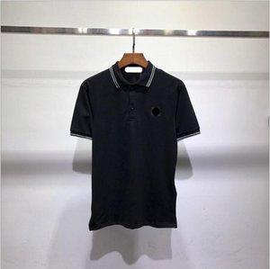 패션 - 2021 Topstoney 여름 CP 반바지 섬 칼라 남성 폴로 돌 셔츠 남성 짧은 소매 슬림 티셔츠