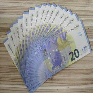 07 Моделирование игрушки Монета 20 EUR Съемки реквизиты Money Bar Game Fake Prop Money Tokens 200 штук