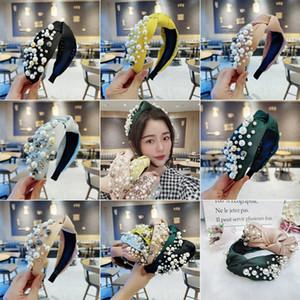 Korean-style Online Celebrity Hair Bands Female Fashion Full Pearl Knot Headband Bead Face Wash Large Rims Headband Elegant Vers