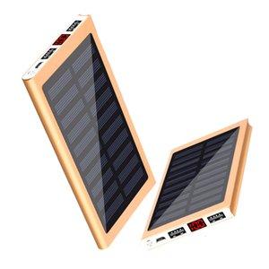 Portatile Bank Power Bank 10000mAh Pack esterno Backup Dual USB Solar Powerbank Battery Charger