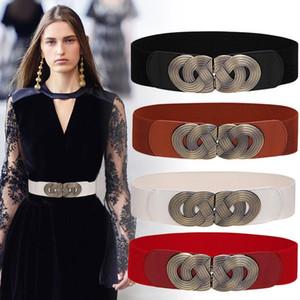 خمر مشد حزام امرأة الخصر أحزمة واسعة للنساء 2020 مرونة زائد حجم حزام الفاخرة مصمم ceinture فام اللباس cummerbund