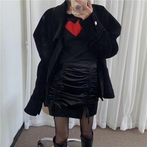 Matakawa Chaquetas de cuello de turno francés de Matakawa Chaqueta de cordura de mujer de estilo femenino suelta abrigos coreanos de doble pecho mujer Q0119