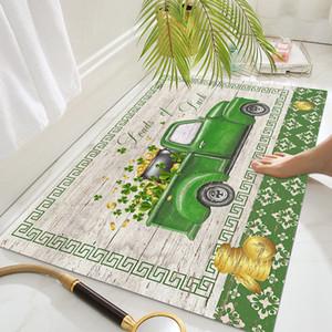 Yeni St Patrick Günü Paspaslar Ev Tuvalet Banyo Kaymaz Mat Emici Ayak Mat EEF4934