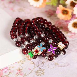 Les nouveaux bracelets de grenat à quatre feuilles cadeau de vacances bracelet cadeau bracelet trèfle porte-bonheur bijoux pendentifs Bracelet décoratifs DHL