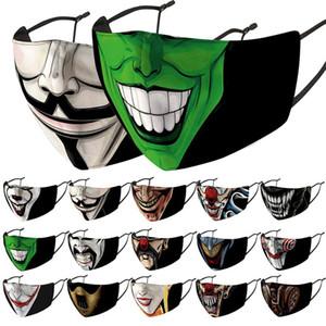 masques masque facial concepteur de clown de cirque visage hommes femmes masques imprimés de mode lavage anti-poussière PM2.5 brume masque facial coupe-vent