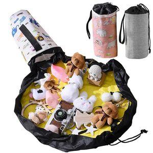 SlideAway اللعب النظيف المتابعة حقيبة التخزين الاطفال بساط اللعب أكسفورد المحمولة ماء بناء كتل التخزين دلو