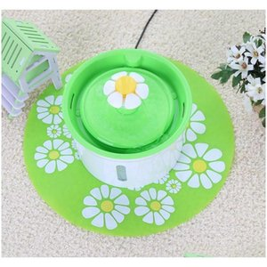 New Automatic Cat Dog Electric Pet Drinking Fountain Pet Bowl Drinking Water Dispenser Filter With Mat Supplies Livcr