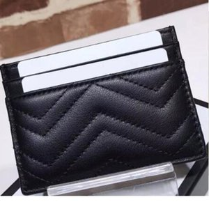 Couro genuíno luxurys designers moda homens mulheres titulares de cartão preto lambskin mini carteiras bolsa de bolsa de bolsa de bolsa de bolso