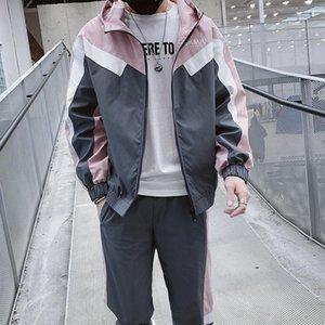 Eşofman Erkekler Seti Moda Bahar Spor Suit Hoodies Sweatshirt Ceket Spor 2 Adet Set Eşofman erkek giyim